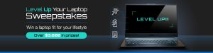 Newegg Business – Level up Your Laptop – Win 1 of 5 prizes valued at up to $1,249