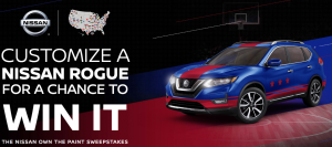 Nissan North America – Own The Paint – Win a grand prize of a 2019 Rogue SL wrapped in school colors valued at $35,000 OR 1 of 10 minor prizes