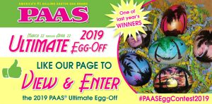 PAAS – 2019 Ultimate Egg-Off – Win a PAAS Easter Eggs valued at $1,000 OR 1 of 16 minor prizes