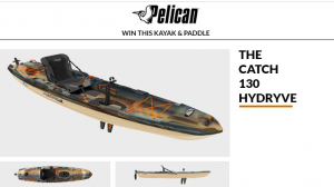 Paddling – Pelican – Win a Pelican Catch 130 Hydryve & the Symbiosa Angler Kayak Paddle valued at $1,369