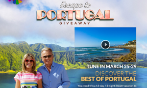 Quadra Wheel of Fortune – Escape to Portugal – Win 1 of 5 trips for 2 to Portugal for 11 nights valued at $11,498 each
