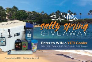 Salt Life – Win a Salt Life Yeti Roadie Cooler and $150 of Salt Life apparel and gear PLUS a $150 gift card