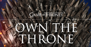 AT&T – Win a replica Game of Thrones throne valued at $18,000 PLUS a $5,400 check