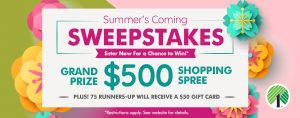 Dollar Tree Stores – Win a grand prize of a $500 gift card OR 1 of 75 runner-up prizes