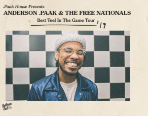 Ellen Tube – Win tickets to see Anderson .Paak on Tour