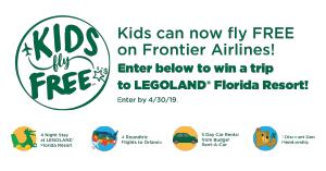 Frontier Airlines – Win a prize package valued at $3,408 OR 1 of 10 minor prizes