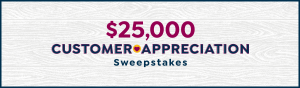 HSNi – Customer Appreciation – Win a $25,000 check