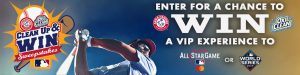 MLB Advanced Media – Clean Up – Win a grand prize of a trip for 4 valued at $14,500 OR a minor prize of a trip for 4 valued at $10,500