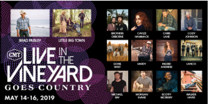 Premiere Networks – Win a 3-day trip for 2 to attend Live In The Vineyard Goes Country in Napa Valley
