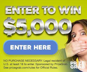 PrizeGrab.com – Win a $5,000 cash prize