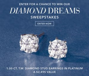 Ross-Simons – Win a pair of 1.00 ct.t.w. Diamond Earrings in Platinum