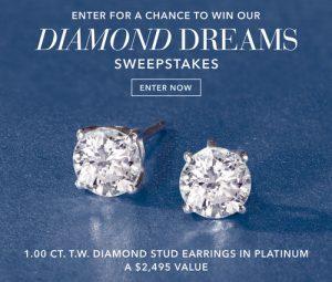 Ross-Simons – Win a pair of 1.00 ct.t.w. Diamond Earrings in Platinum