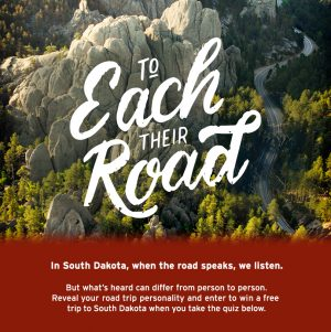 South Dakota Tourism – Win a trip to South Dakota valued at $3,000