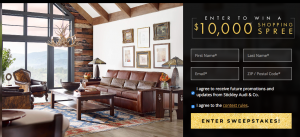 Stickley Audi & Co – Win $10,000 store credit OR $1,000 Gift Card + Store credit