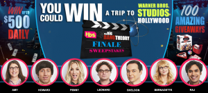 Warner Bros Domestic Television Distribution – The Big Bang Theory 'Series Finale' – Win a grand prize of a trip for 2 to Los Angeles OR 1 of 108 minor prizes