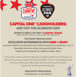 iHeart Radio – Win a trip for 2 to Austin, Texas