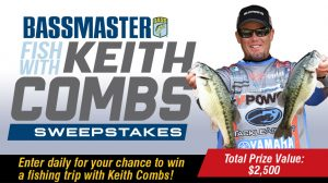 Bassmaster – Win a grand prize trip package OR 1 of 31 daily prizes