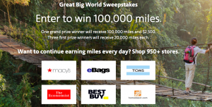 Cartera Commerce – Win a grand prize of 100K American Airlines AAdvantage miles PLUS a $2,500 check OR 1 of 3 minor prizes