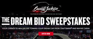 Craftsman – Win a trip for 2 to 2019 Barrett-Jackson Auction in Uncasville, CT