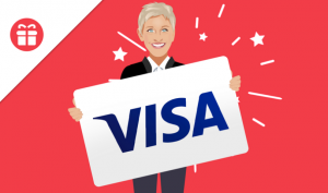 Ellen Tube – Win a $300 Visa gift card
