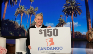 Ellen Tube – win a $150 Fandango gift card