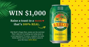 Reed's – Win a $1,000 gift card
