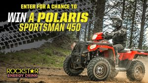 Rockstar – Win a Polaris Sportsman 450 Indy Red valued at $6,000