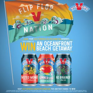 Victory Brewing Company – Win a grand prize of a trip for 2 to Jersey Shore NJ OR 1 of 105 minor prizes