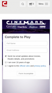 Cinemark – Diamond In The Rough Trivia Instant Win Game – Win a replica genie lamp