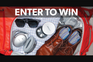 Crutchfield – Bose Travel Trifecta Great Gear Giveaway Sweepstakes