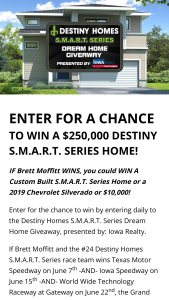 Destiny Homes – Smart Series Dream Home Giveaway – Win $200000 minimum / $250000 maximum