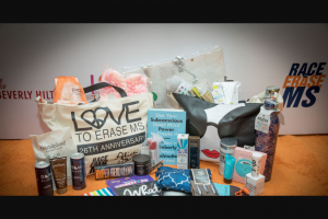 EXTRATV – Gift Bag From The Race To Erase Ms Gala Sweepstakes