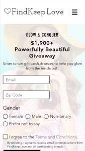 Findkeeplove – $1900 Powerfully Beautiful Giveaway Sweepstakes