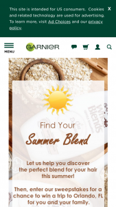Garnier – Whole Blends Find Your Blend Sweepstakes