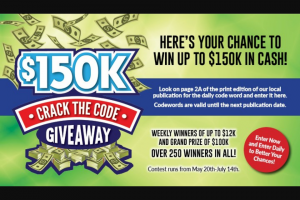 Gatehouse Media – $150k Crack The Code Giveaway Sweepstakes