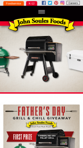 John Soules Foods – Father's Day Giveaway – Win 850 Pellet Grill (1) second prize Big Green Egg and (1) third prize of Yeti Tundra 75.