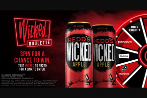 Millercoors – Redd's Wicked Roulette Instant Win Game Sweepstakes
