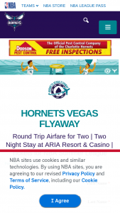 "Nba – Hornets Basketball 2019 Las Vegas Summer League Flyaway – Win the following (the ""Prize"") (i) round-trip airfare for two (2) to Las Vegas"