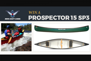 Paddlingcom – Nova Craft – Win the Nova Craft Prospector 15 SP3 Canoe