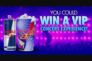 Red Bull – Vip Music – Win VIP Concert trip to an available 2020 concert of their choice at a participating Live Nation concert venue located within the United States