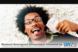"Ryan Seacrest – Weekend Reimagined – Win check in the amount of ten thousand dollars ($10000.00) made payable to the Winner (Approximate Retail Value (""ARV"") $10000.00)."