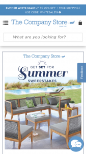The Company Store – Get Set For The Summer – Win San Mateo Patio collection from The Company Store (of $5800 value).