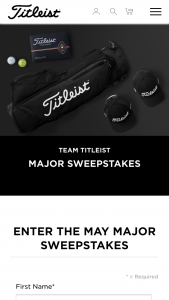 Titleist – 2019 May Major Sweepstakes