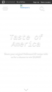 Unilever – Taste Of America Sweepstakes