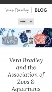 "Vera Bradley – Association Of Zoos And Aquariums – Win Prizes Grand Prize Winner will be awarded a Vera Bradley prize package having an approximate retail value (""ARV"") of $380."