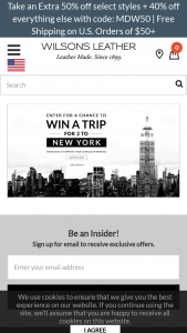 Wilsons Leather – Trip For 2 To New York – Win AIRFARE FOR 2 TO NEW YORK AND 1 HOTEL ROOM IN NEW YORK FOR 2 NIGHTS (MAY DEPEND ON AVAILABILITY AT TIME OF PURCHASE).