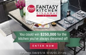 Food Network – Win $250,000 for your dream kitchen