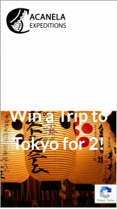 Acanela – Win A Trip To Tokyo For 2 Sweepstakes