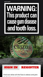 American Snuff Company – Grizzly Gauntlet Challenge Giveaway Sweepstakes