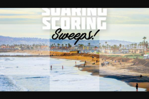 America's Best Racing – Surfing Soaring And Scoring – Win a cash payment of $240 which may be used to pay for surfing Lessons at the Del Mar Surf School or another surf school (the Winner and its guest not being obligated to use the cash for such purpose).